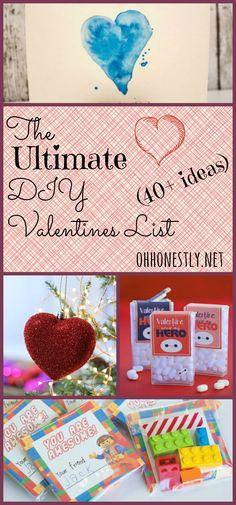 Ultimate DIY Valentines List 40+ Ideas