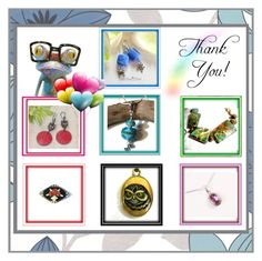 """""""A Rainbow of Thanks"""" by imaginebaby ❤ liked on Polyvore featuring Graham & Brown, Yosemite Home Décor and vintage"""