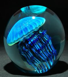 Art Glass Paperweight Jellyfish from Kela's...a glass gallery on Kauai