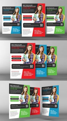 Business Corporate Flyer Template Flyer Template Flyers And - High school brochure template