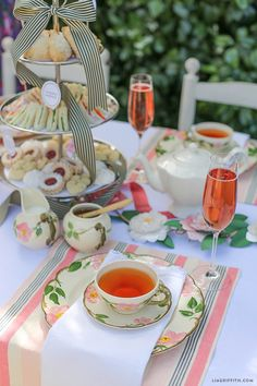 High Tea Table Snacks Setting - host an English style high tea