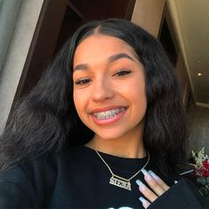 Hair Care Tips That You Shouldn't Pass Up – Hair Extensions Remy Cute Girls With Braces, Cute Braces Colors, Dental Braces, Teeth Braces, Braces Tips, Curly Hair Styles, Natural Hair Styles, Brace Face, Light Skin Girls
