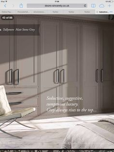 Sincerely doors this another option Matt stone grey it has a certain sophistication I like. & Beautiful replacement doors from uk manufacturer sincerely doors ... pezcame.com