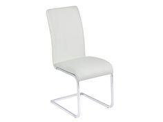 Silla aluminio y polipiel blanca. www.actuadecor.com