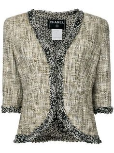 For Sale on - Chanel signature jacket A timeless classic that should be in every woman's wardrobe Finest tweed fabric exclusively produced by Maison Lesage for Chanel Chanel Tweed Jacket, Tweed Blazer, Cargo Jacket Mens, Bomber Jacket, Leather Jacket, Vintage Dresses, Vintage Outfits, Lesage, Clothes Pictures
