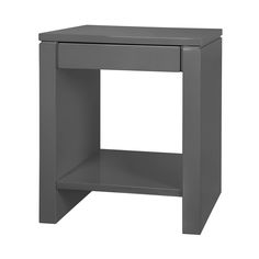 Odom 1-Drawer Side Table, Gray - Bungalow 5