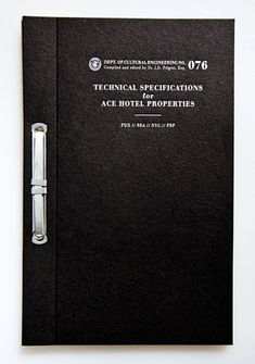 The Official Manufacturing Company / Work / Ace Hotel / Press Kit