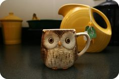 Owl Mug and Fiesta Pitcher