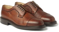 $495, Tenterden Pebble Grain Leather Derby Shoes by Cheaney. Sold by MR PORTER. Click for more info: http://lookastic.com/men/shop_items/153203/redirect