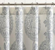 Lucianna Medallion Shower Curtain #potterybarn #PBPINS