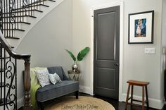 Door color is Black Fox from Sherwin Williams.