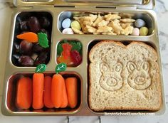 2 Easter Bunny Lunches, Super Easy