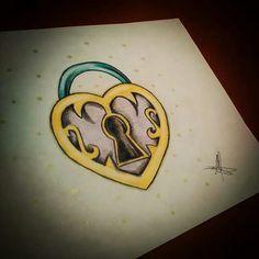 Candado Diseño realizado por Esther de Monster Tattoo DISEÑO DISPONIBLE PARA TATUAR