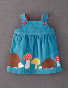 sewing inspiration | Appliqué Pinnie from Mini Boden