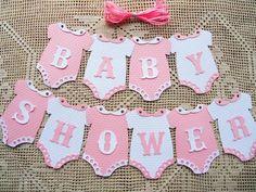 $16.48 AUD - 10 Bunting Flags Banners Garland Baby Shower Pink White Girl Diy B3 #ebay #Home & Garden