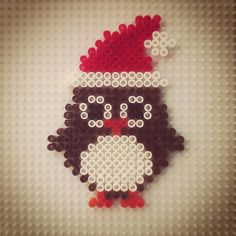 Christmas owl hama beads by hadavedre