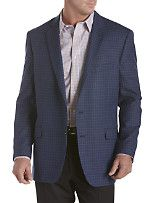 Tommy Hilfiger® Check Sport Coat Back PRODUCT DETAILS Two-button front with notched lapels, welt chest pocket, interior pocket, flap front pockets and side vents. Fully lined. Wool. Dry clean. Imported. Navy Item # R8166  $74.49  $298.00	Save 75%
