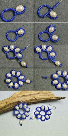 Like the flower pearl earrings?More details will be shared byBeaded beads tutorials and patterns, beaded jewelry patterns, wzory bizuterii koralikowej, bizuteria z koralikow - wzory i tutoriale - SalvabraniFree pattern for beaded necklace rosana beads mag Bead Jewellery, Seed Bead Jewelry, Wire Jewelry, Jewelry Crafts, Handmade Jewelry, Seed Beads, Jewelry Ideas, Jewellery Shops, Jewellery Making