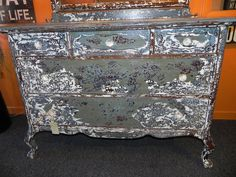 Shabby Chic Dresser with Mirror $395 - New Buffalo http://furnishly.com/shabby-chic-dresser-with-mirror.html
