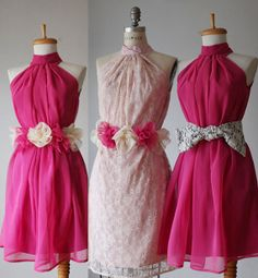 Hey, I found this really awesome Etsy listing at https://www.etsy.com/listing/127728401/mix-bridesmaid-dresses-in-azalea-and
