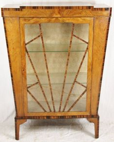 Antique Art deco China Cabinet