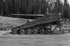 UDES 03 - An intended replacement for the Strv 103 MBT. Having a gun that was not fixed in elevation allowed it to be equipped with a vertical stabilizer. Military Armor, Lego Military, Military Vehicles, World Of Tanks, Swedish Army, Tank Destroyer, Armored Fighting Vehicle, Battle Tank, Military Equipment