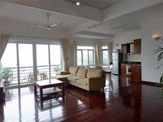 Panoramic lake front 2 bedroom apartment for rent in Tay Ho