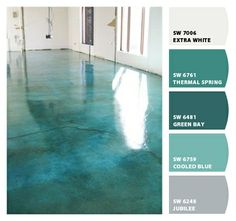 Paint colors from Chip It! by Sherwin-Williams. Would be a fun garage floor.