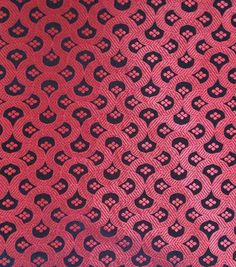 Brocade Fabric-Brocade Red Floral Geo