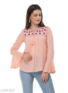 Tops & Tunics SAAKAA Women's Rayon Pink Embroidery Top Fabric: Cotton Pattern: Embroidered Multipack: 1 Sizes: S XL XS L M XXL Country of Origin: India Sizes Available: XS, S, M, L, XL, XXL   Catalog Rating: ★4.2 (847)  Catalog Name: Stylish Fabulous Women Tops & Tunics CatalogID_1777086 C79-SC1020 Code: 953-9961237-978