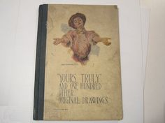 Yours Truly  Antique Art Book with 100 Original by Budgiefluff, $24.00