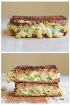 Mac and cheese grilled cheese
