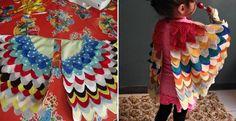 Urob si sama návod na halloween alebo len tak pre radosť Vašich ratolestí deti - pestrofarebné krídla na karneval. Detský kostým s vtáčimi krídlami.