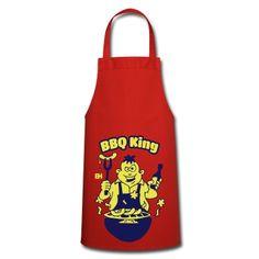 BBQ King Schürzen. #Spreadshirt #Cardvibes #Tekenaartje #apron #gift #SOLD