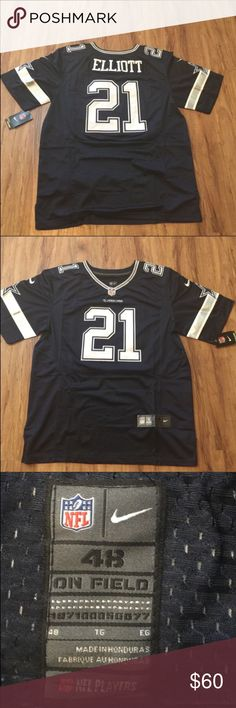 Dallas Cowboys Football Jersey Elliott NEW XL (48) New with tags. Nike On Field stitched numbers and letters. Men's size XL (48). Next day shipping Nike Shirts