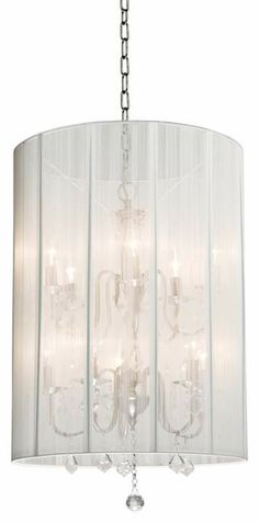 Artcraft Claremont White Nickel 20-Inch-W Foyer Chandelier #interior_design #chandeliers  See more http://www.eurostylelighting.com/chandeliers-category/search.htm
