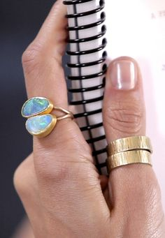 #Double #Opals #Ring