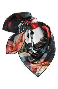 Free shipping and returns on KENZO Flower Print Silk Scarf at Nordstrom.com. Photorealistic flower graphics add eye-catching energy and modern sophistication to an Italian-crafted silk scarf.