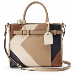 Reed RK40 Medium Belted Convertible Satchel (£35) ❤ liked on Polyvore featuring bags, handbags, brown oth, handbag satchel, vegan leather purses, brown satchel handbag, brown satchel and reed handbags