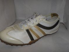 GEOX WOMENS WHITE PATENT LEATHER/MESH FASHION SNEAKERS SIZE 7/37 #GEOX #FASHIONSNEAKER