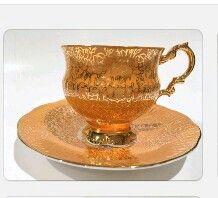 Šálek na čaj - zlacený porcelán    Tea Cup Set 02feb9f49d