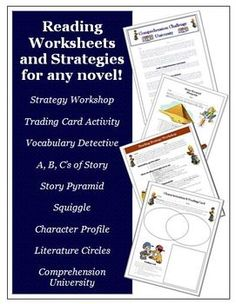 Printables and ideas for older kids that can be used with ANY unit. 38 pages of ideas and activities for guided reading! - 