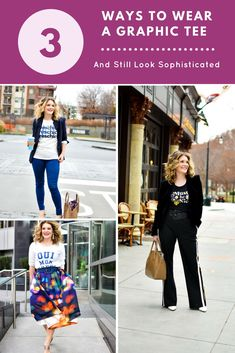 1a5f21be437 Three Ways to Wear a Graphic Tee and Still Look Sophisticated | Graphic  Tees | Casual