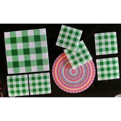 Coasters Hama perler beads by Ing-Mari Shafiebieg