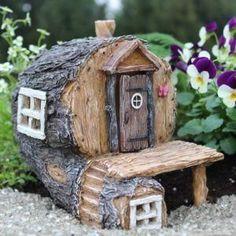 Hidden Hollow #minigardens #birdhouseideas