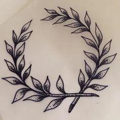 Modern Tattoos, Trendy Tattoos, Small Tattoos, Tattoos For Guys, Laurel Tattoo, Laurel Wreath Tattoo, Body Art Tattoos, Tattoo Drawings, Tattoo Ink