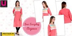 Get your hands on this cool and ethnic pink kurti ! Find more here : http://nextsize.in/