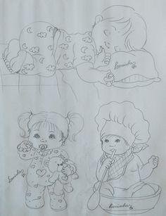 Cute Disney Drawings, Art Drawings Sketches Simple, Cute Drawings, Baby Painting, Fabric Painting, Baby Motiv, Ganesha Drawing, Children Sketch, Drawing Now