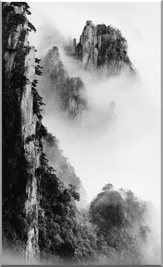 Wang Wusheng was born in the city of Wuhu in China's Anhui Province and graduated from Anhui University's School of Physics. Chinese Landscape Painting, Chinese Painting, Landscape Paintings, Ink Paintings, Fine Art Photography, Landscape Photography, Nature Photography, Landscape Tattoo, Tinta China