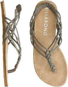 BILLABONG WOVEN THROUGH TIME SANDAL Womens BILLABONG | Swell.com from SWELL. #grey #shoes #size #sandals #sand.